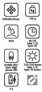 Lampada SMD LED ricaricabile pieghevole Lti 65981015