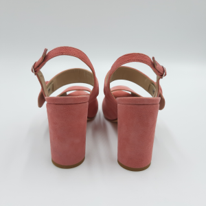 Sandalo open toe rosa scamosciato Emanuela Passeri