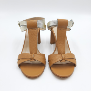 Sandalo cuoio e argento Emanuela Passeri