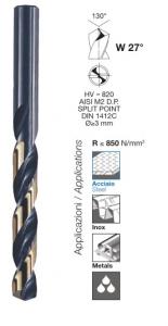 Serie punte per ferro professionali Dual Performer HSS-G mm 1-10 Krino 01205301