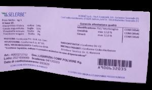 ERBE LIQUIRIZIA COMPOSTA POLVERE SENZA/ZUCCHERO 1KG