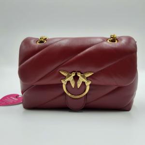 Tracolla Love Classic Puff Maxy Quilt 4CL rosso Pinko