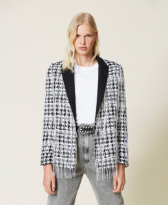SHOPPING ON LINE TWINSET MILANO GIACCA BLAZER CON FRANGE DI PAILETTES NEW COLLECTION PREVIEW FALL WINTER 2022