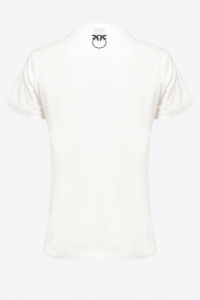 SHOPPING ON LINE PINKO T-SHIRT STAMPA ROSA ARNOS NEW COLLECTION WOMEN'S FALL/WINTER 2022