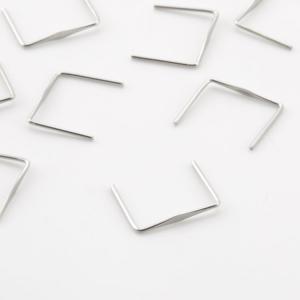 Clip 17 mm liscia nickel per agganci cristalli con gambo 14