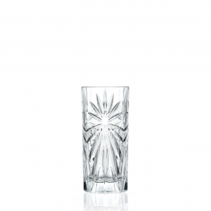 Set di 6 bicchieri bibita in vetro cristallino RCR Oasis  36 cl