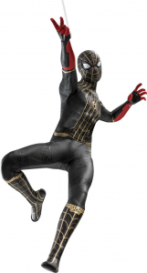 *PREORDER* Spider-Man: No Way Home Movie Masterpiece: SPIDER-MAN (Black & Gold Suit) 1/6 by Hot Toys