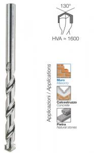 Serie 8 punte cilindriche per muro mm 3-12 Krino 03050205