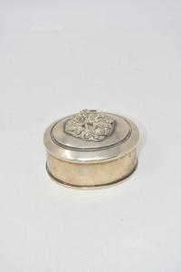 Scatolina In Silver Portagioie Con Roselline