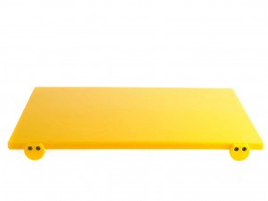 BERTOLI Tagliere plastica giallo con batterie 60x40x2 Utensili da cucina