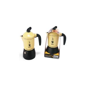 BIALETTI Caffettiera Alluminio New Orzo Gialla Tazzine 4 Moka Articoli Cucina