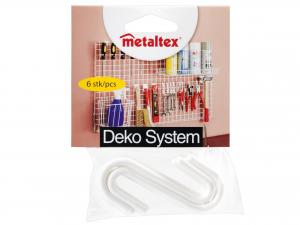 METALTEX Set 6 ganci plastica 369707 bianco Riordino e Lavanderia