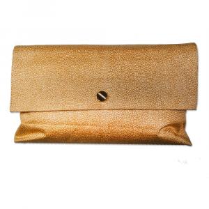 Borbonese Plaid 135x160 cm in Kakao WILDLEDER Wolle Geschenkidee mit Clutch