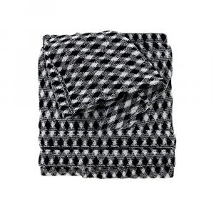 Missoni Home Bademantel mit Kapuze Weiß Schwarz VIGGO