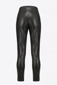 Pantalone Campus effetto pelle Pinko