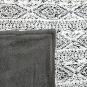 Plaid in pile Polar grigio coperta effetto agnellato - varie misure
