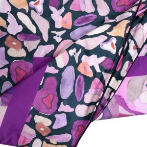 ROBERTO CAVALLI PADDED Satin PLAID 130x180 cm CALEIDOFLORA pink