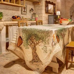 Quadratische Tischdecke 170x170 cm Tessitura Toscana Telerie reines Leinen DOP