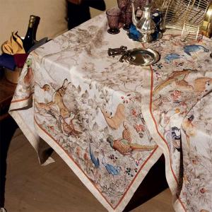 Rechteckige Tischdecke 160x230 cm Tessitura Toscana NORMA reines Leinen