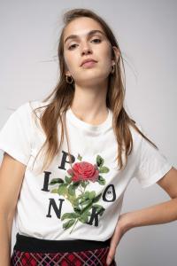 T-shirt Arnos stampa rosa Pinko