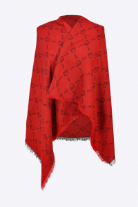 Sciarpa Brevis Monogram rossa Pinko