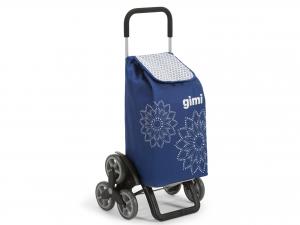 GIMI Carrello spesa tris 3r floral blu Spesa facile Borse e shopper