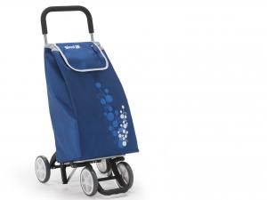 GIMI Carrello spesa twin 4 ruote blu Spesa facile Borse e shopper