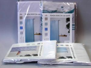 BACCHETTA & TRACANZAN Tenda doccia pvc 240x200 bianco Arredo bagno e accessori