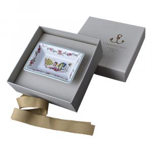 Piccolo vassoio rettangolare decorato in giftbox GCV