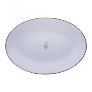Piatto ovale cm 37 | Feston e Cadena Azzurro