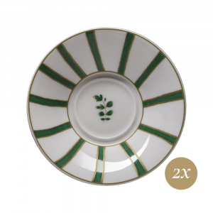 Set caffè 4 pezzi in Giftbox GCV | Striche Verdi e Oro