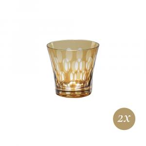 Set 6 bicchieri ambra | Twins