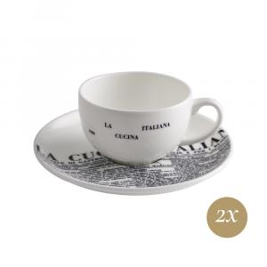Set caffè 4 pezzi in Giftbox GCV   Geometric   La Cucina Italiana