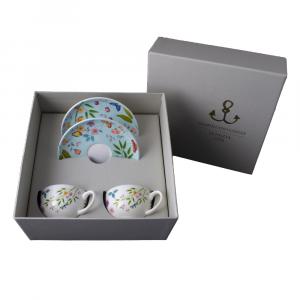 Set caffè 4 pezzi in Giftbox GCV   Incanto di Primavera