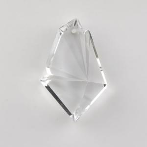Placca pendente 63 mm cristallo di Boemia molato a mano. Goccia per lampadari.