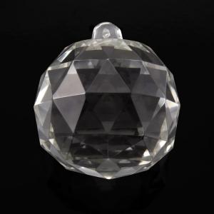 Sfera sfaccettata in colore cristallo di Boemia Ø70 mm. Per restauri antichi e ricambi vintage.