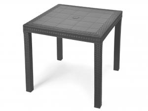 Tavolo in resina Quadrata Dallas Modello Antrcite - 9096.4