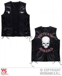 WIDMANN Gilet Outlaw Bikers Similpelle Costumi Completo Adulto Party E Carnevale 210
