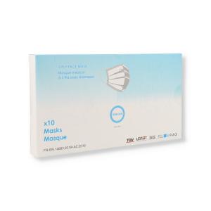 MASCHERINA 3VELI BOX 10PZ AZZURRA 3 PLY FACE MASKS(UNICO IMBALLO/SCATOLA CARTONE