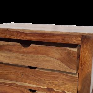 Cassettiera 5 cassetti in legno di palissandro indiano
