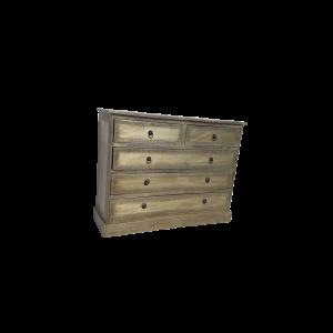 Cassettiera 5 cassetti in legno di palissandro indiano rivestito in lamiera di ottone scolpita a mano