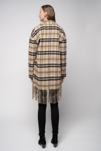 Cappotto Parkside caban con frange Pinko
