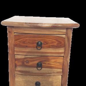 Colonnina con 7 cassetti in legno di palissandro indiano naturale