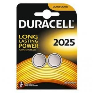 DURACELL Blister 2 pile bottone 2025 3v al litio batterie