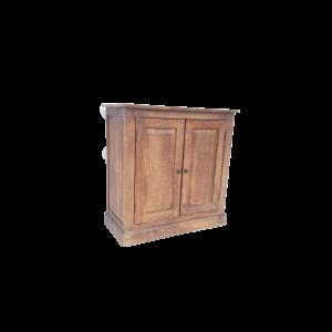 Mobiletto 2 ante in legno di mango finitura antichizzata