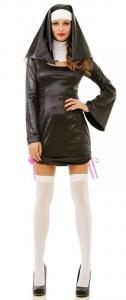 Vestito suora sexy costume di carnevale da ragazza