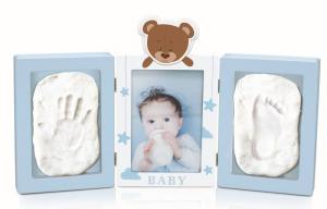 Babyimpronta Portafoto Due Impronte Azzurro Babympronta Cornice In Plexiglass 890