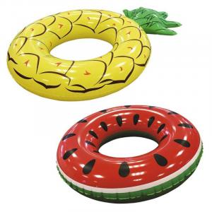 BEST WAY Salvagenti Assortiti: Ananas Cm. 179X117 E Anguria Cm. 133 Assortiti