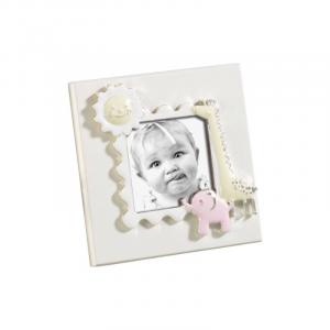 MASCAGNI CASA Cornice Formato 6X6 Con Decorazioni Rosa Cornici Classiche