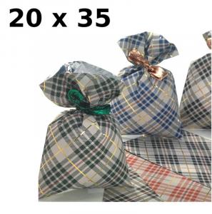 PNP Confezione 100 Buste Misura 20X35Cm Fantasie Natalizie Assortite Buste